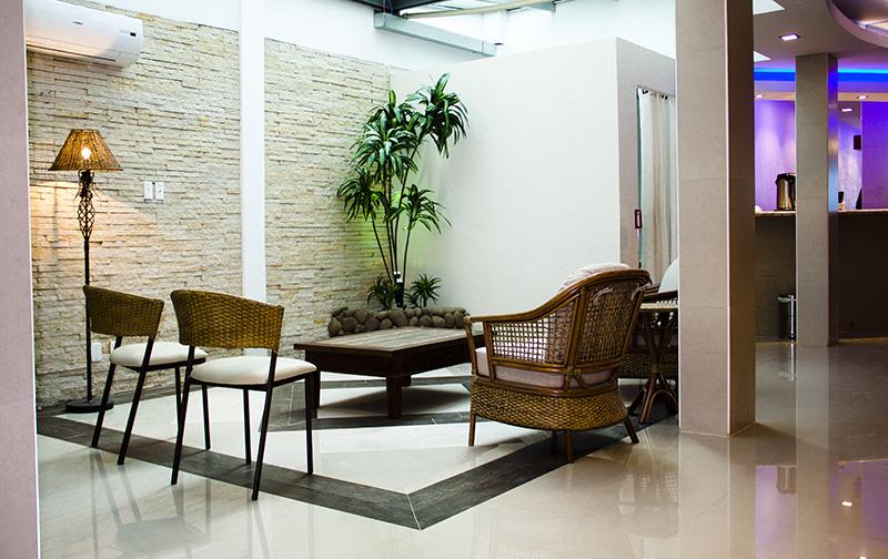 Ambiente aconchegante e confortável.